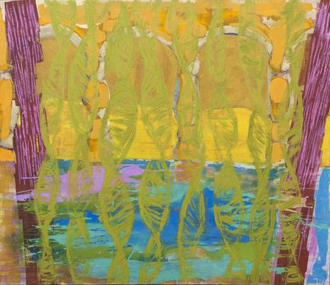 Arcades, mixed media on canvas, 155x180 cm, 2008.