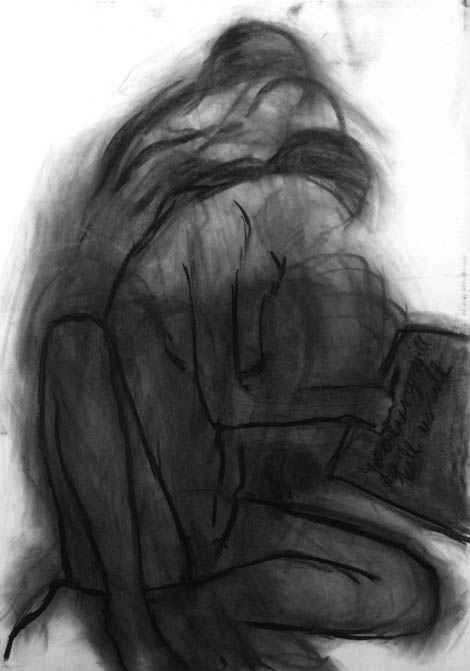 Jealousy will kill us all, charcoal on paper, 100x80 cm, 2005.