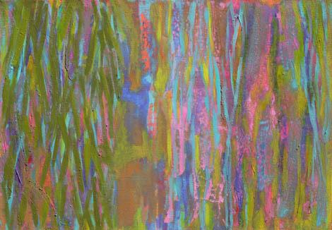 Swamp, mixed media on canvas, 70x100 cm, 2010.