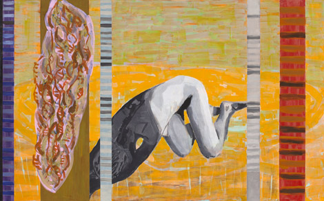 Humility, egg tempera on canvas, 165x125 cm, 2010.