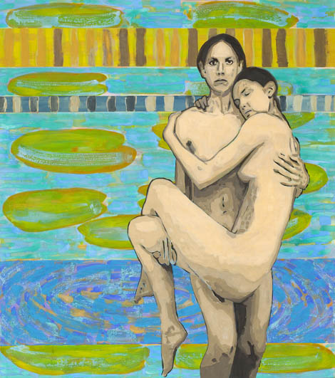 Sisters, egg tempera on canvas, 179x150 cm, 2010.