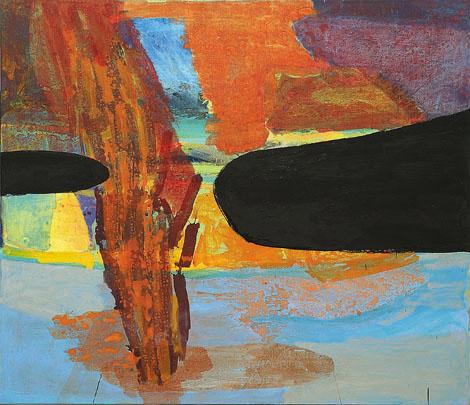 Vulkanik, mešana teh. na platno,180x165 cm, 2001.