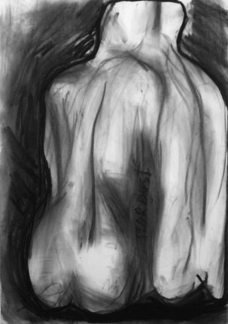 Stardust, charcoal on paper, 100x80 cm, 2005.