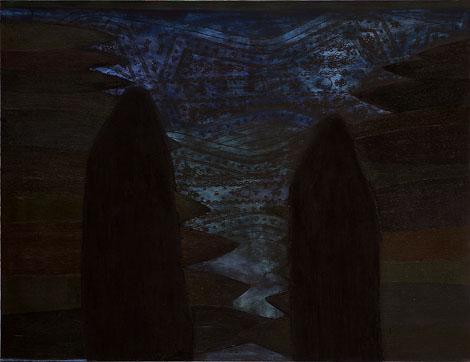 Tora bora, mešana tehnika na platno, 150x180 cm, 2002.